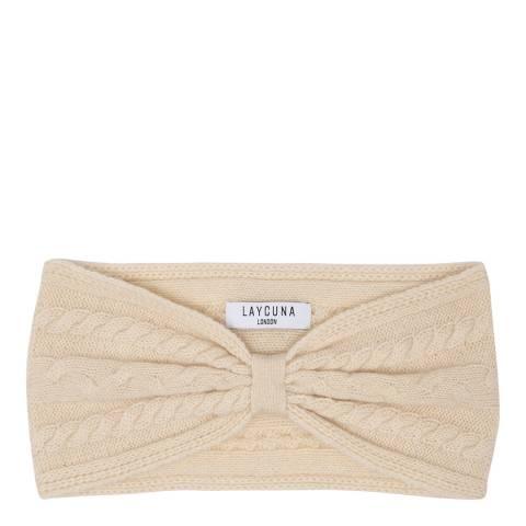 Laycuna London Cream Cashmere Headband