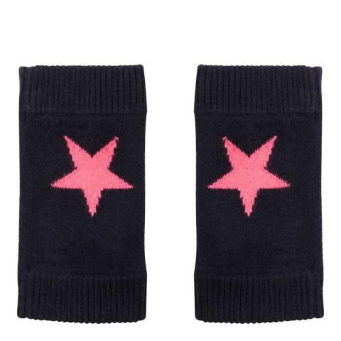 Laycuna London Navy/Pink Cashmere Star Wrist Warmer