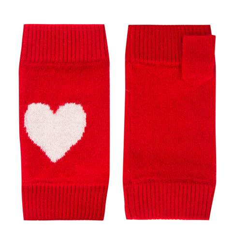 Laycuna London Red Cashmere Heart Wrist Warmer