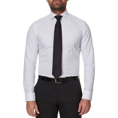 BOSS White Jason Slim Cotton Shirt
