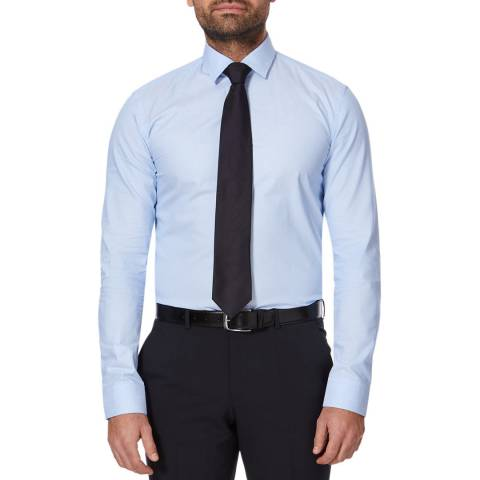 BOSS Mid Blue Ismo Slim Cotton Shirt