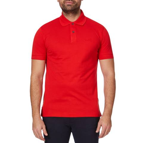 BOSS Red Firenze Logo Cotton Polo Top