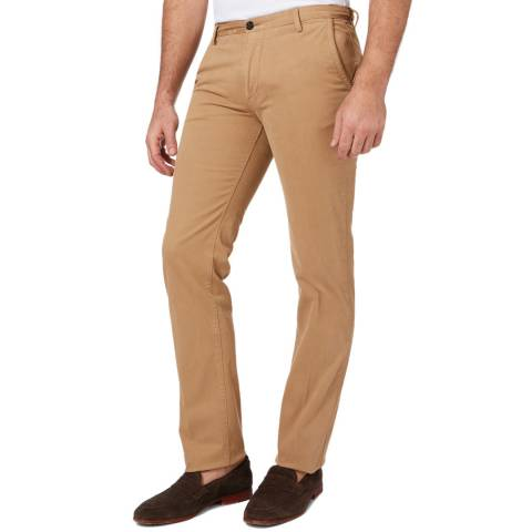 BOSS Camel Rice Slim Fit Stretch Cotton Chinos