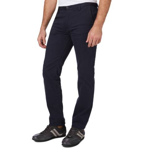 BOSS Navy Rice Slim Fit Stretch Cotton Chinos