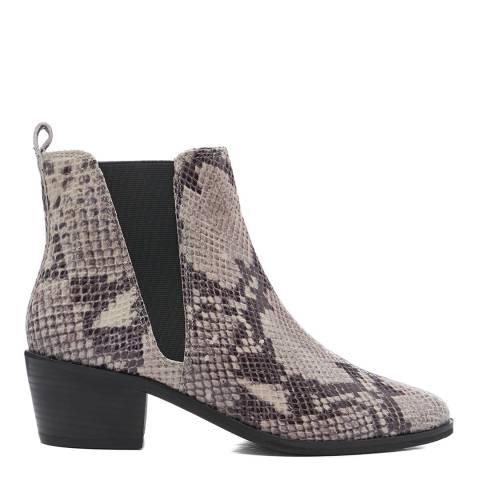 Dune London Natural Snake Pride Ankle Boot