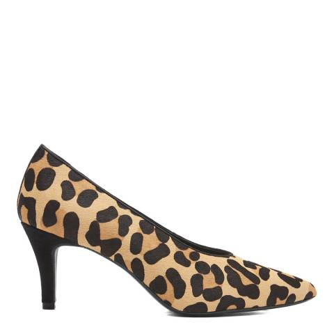 Dune London Leopard Print Ruby Heeled Shoe