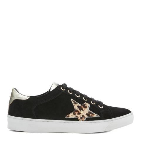 Dune London Black Suede & Leopard Elwinn Sneaker