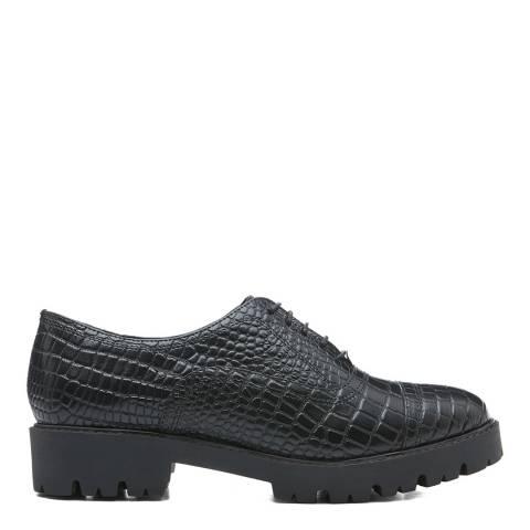Dune London Black Croc Florrie Leather Shoe