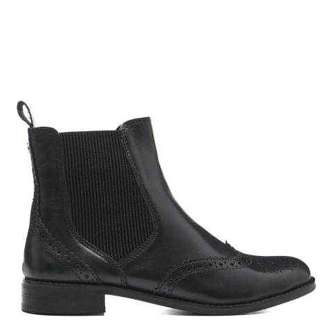 Black Parks Leather Ankle Boot by Dune London