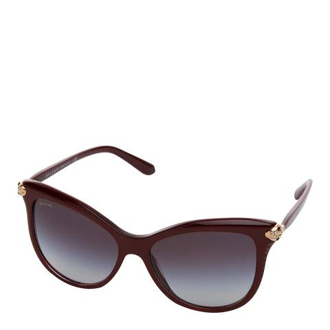 Bvlgari Women's Brown / Bordeaux  Bvlgari Sunglasses 57mm