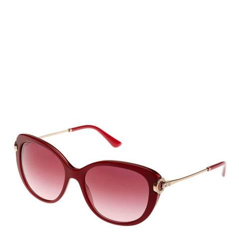 Bvlgari Women's Red / Gold Bvlgari Sunglasses 57mm