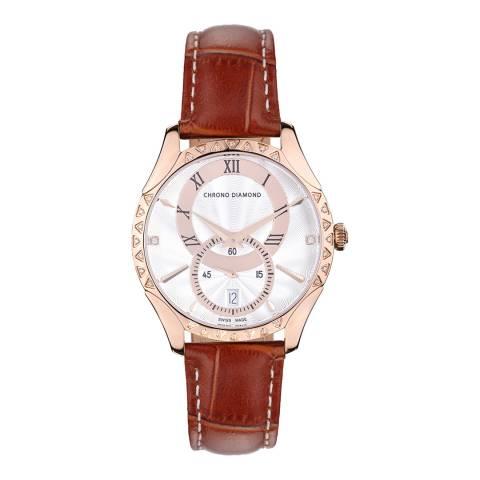 Chrono Diamond Women's Swiss Brown Watch