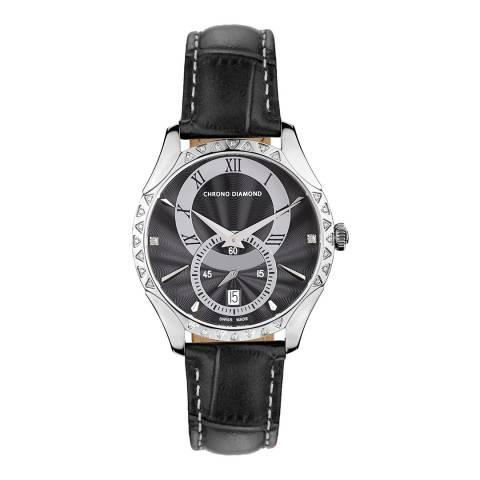 Chrono Diamond Women's Swiss Black Watch