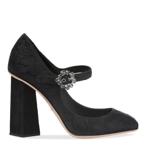 Dolce & Gabbana Black Decollete Broccato High Heel Pumps