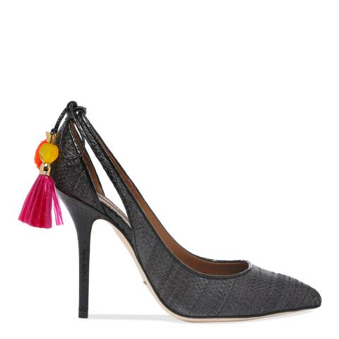 Dolce & Gabbana Grey Textured Tassel Court Shoes