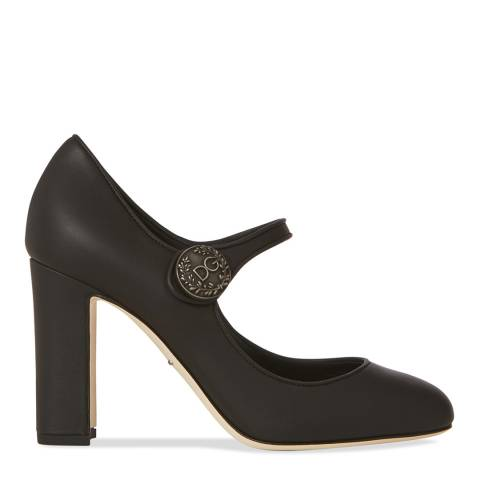 Dolce & Gabbana Black Mary Jane Heeled Pumps