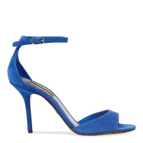 Dolce & Gabbana Cobalt Blue Suede Stiletto Heel Sandals
