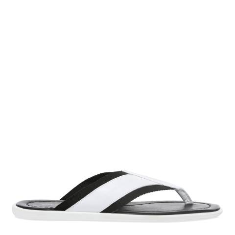 Dolce & Gabbana White & Black Beachwear Sandals