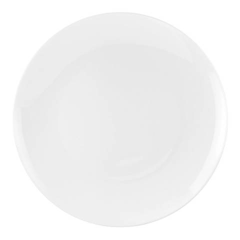 Royal Worcester Set of 4 White Serendipity Coupe Plates 27cm