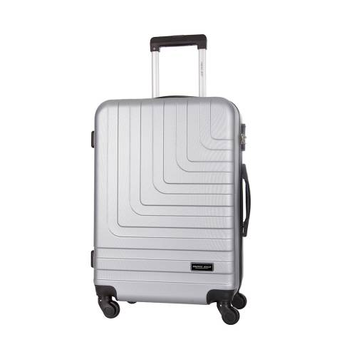 Travel One Silver 4 Wheel Loria Suitcase 58cm