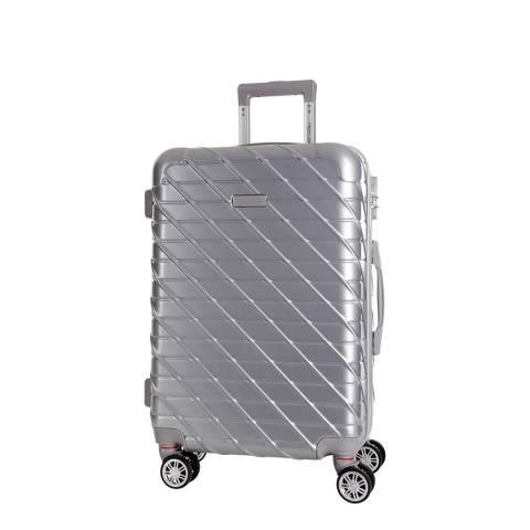 Travel One Silver 8 Wheel Leiria Suitcase 46cm