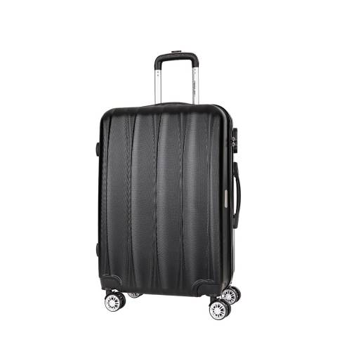 Travel One Black 8 Wheel Eastend Suitcase 56cm