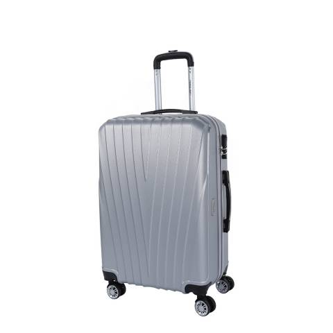 Travel One Silver 8 Wheel Elson Suitcase 56cm