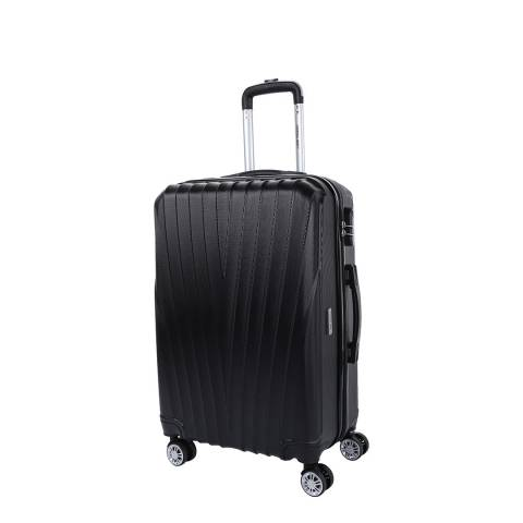 Travel One Black 8 Wheel Elson Suitcase 56cm