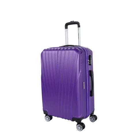 Travel One Violet 8 Wheel Elson Suitcase 56cm