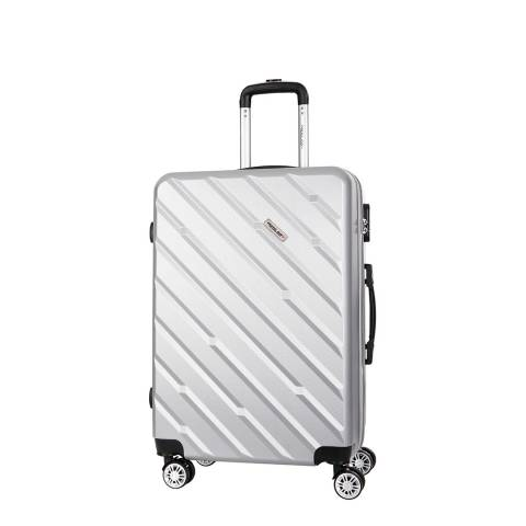 Travel One Silver 8 Wheel Flemington Suitcase 56cm