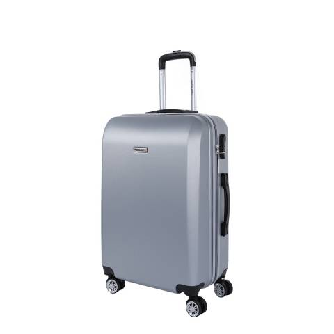 Travel One Silver 8 Wheel Walton Suitcase 56cm