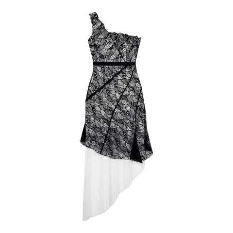 Three Floor Black/White Model Squad Dress