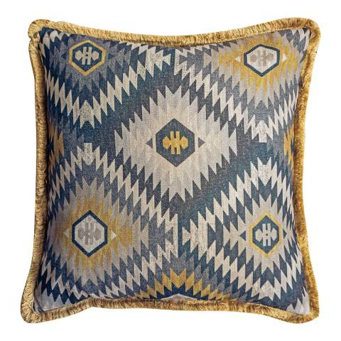 Gallery Blue/Yellow Killim Cushion 60x60cm