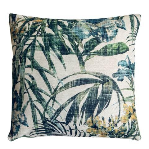 Gallery Green/Cream Tropicana Leaf Cushion 50x50cm