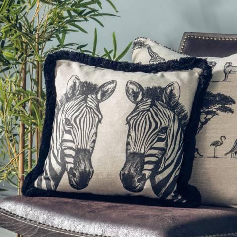 Gallery Black/White Zebra Cushion 43x43cm