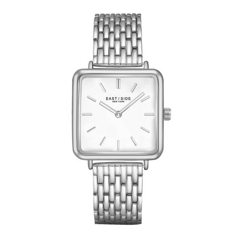 East Village Women's Silver Grand Rectangular Bracelet Watch