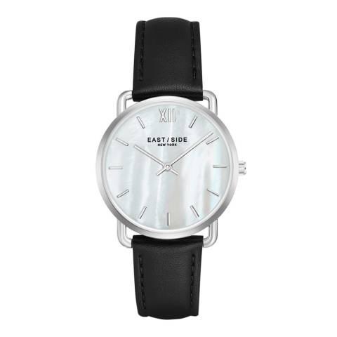 East Village Women's Black / Silver Pearl Leather Watch 33mm