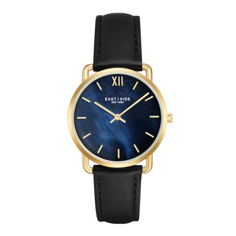 East Village Women's Black / Gold  Pearl Leather Watch 33mm