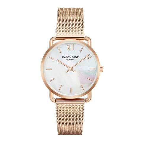 East Village Women's Rose Gold Pearl Watch 33mm