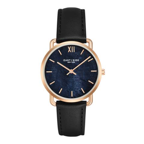 East Village Women's Black / Rose Gold Pearl Watch 33mm
