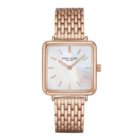 East Village Women's Rose Gold Grand Rectangular Bracelet Watch