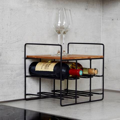 Wenko 6 Bottle Wine Rack Loft