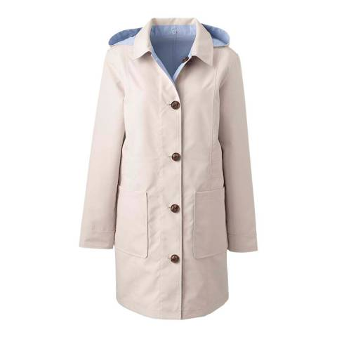 Lands End Light Bisque/Pale Blue Sky Reversible Coat