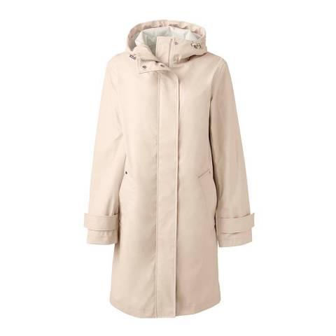 Lands End Light Bisque Rain Coat