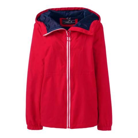 Lands End Bright Cardinal Squall Lightweight Jacket
