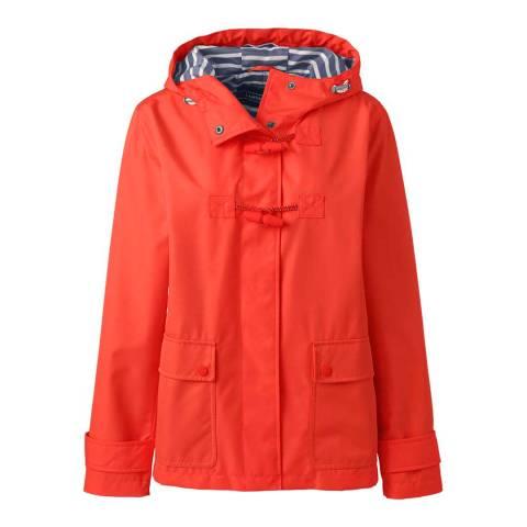 Lands End Crimson Orange Duffle Rain Jacket