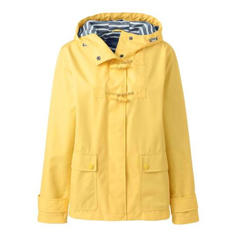 Lands End Bright Lemon Duffle Rain Jacket