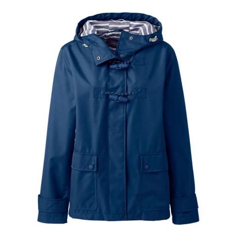 Lands End Twilight Blue Duffle Rain Jacket