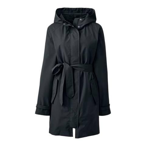 Lands End Black Metro Rain Coat