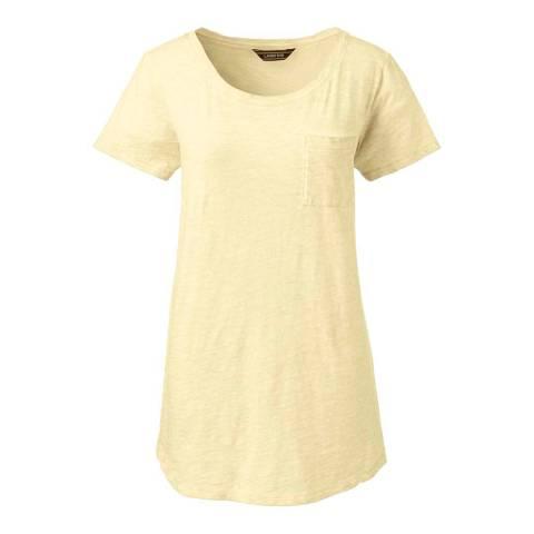 Lands End Lemon Chill Cotton Jersey Pocket T-shirt